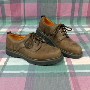 TIMBERLAND Men's Brown Leather Lace Up Shoes Sz 9W